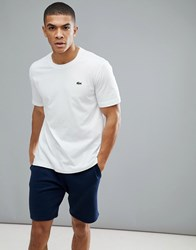 Lacoste Sport Logo T Shirt In White