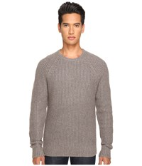 Jack Spade Shaker Stitch Ribbed Crew Neck Sweater Mink