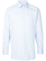Gieves And Hawkes Formal Fitted Shirt Blue