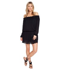 Roxy Off The Shoulder Dress Anthracite Women's Dress Pewter