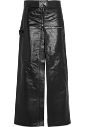 Vetements Glossed Leather Maxi Skirt Black