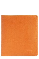 Bellroy Men's Note Sleeve Wallet Orange Burnt Orange