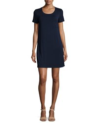 Splendid Short Sleeve Round Neck T Shirt Dress Navy