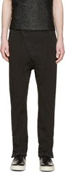 Alexandre Plokhov Black Asymmetrical Zip Trousers