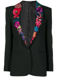 Paul Smith Ocean Embroidered Blazer Black