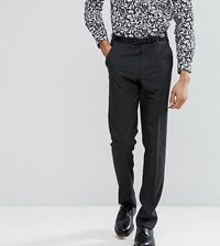 Asos Tall Slim Smart Trousers In Charcoal Charcoal Grey