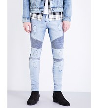 Represent Biker Skinny Stretch Denim Jeans Acid Blue