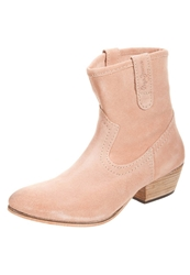 Pepe Jeans Chesterfield Cowboy Biker Boots Rosa Rose