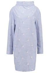 Fashion Union Tall Cosmic Summer Dress Blue White Multicoloured