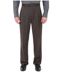 Perry Ellis Classic Fit Double Pleat Micro Melange Pant Castlerock Men's Casual Pants Gray
