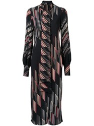 Giuliana Romanno Printed Midi Dress Black