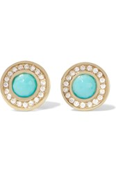 Ippolita Lollipop 18 Karat Gold Turquoise And Diamond Earrings