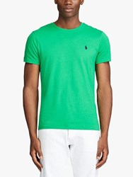 Ralph Lauren Polo Washed Cotton Crew Neck T Shirt Golf Green