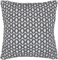 Chandra Textured Contemporary Cotton Pillow White Grey 3 18 Inch Gray