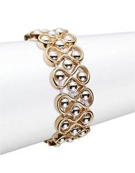Catherine Stein Beaded Infinity Stretch Bracelet Gold