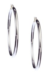 Candela Sterling Silver And 14K Yellow Gold Polished Hoop Earrings Metallic