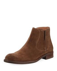 John Varvatos Waverly Suede Chelsea Boots Brown