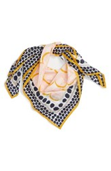 Halogenr Women's Halogen Downtown Dots Square Silk Scarf Navy Combo