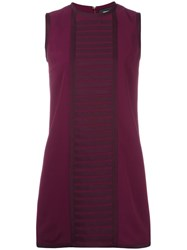 Dsquared2 'Military' Rib Detail Dress Pink Purple