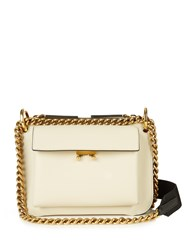 Marni Trunk Bi Colour Leather Cross Body Bag Cream Multi