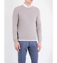Slowear Crew Neck Cotton Jumper Lt Brown