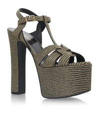 Saint Laurent Betty Tribal Sandals 145 Female Black