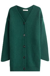 Nina Ricci Wool Cardigan With Angora Green