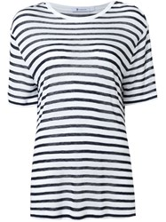 T By Alexander Wang Striped T Shirt White
