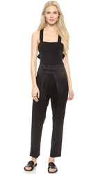 Band Of Outsiders Cross Back Jumpsuit Black