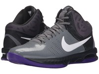 Nike Air Visi Pro Vi Cool Grey Anthracite Court Purple White Men's Basketball Shoes Gray