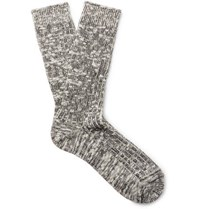 Nonnative Dweller Ribbed Cotton Blend Socks Anthracite