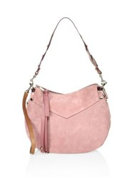 Jimmy Choo Artie Suede Shoulder Bag Vintage Rose