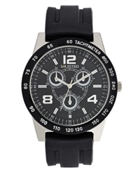 Unlisted Watch Men's Chronograph Black Rubber Strap 45Mm Ul1204