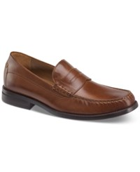 Johnston And Murphy Chadwell Penny Moc Toe Slip On Loafers Shoes Tan