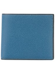 Valextra Billfold Wallet Blue