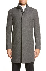 Men's Theory Trim Fit Wool Blend Topcoat