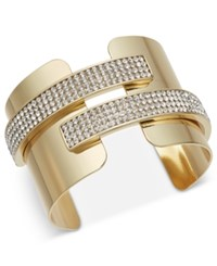 Inc International Concepts Pave Cuff Bracelet Created For Macy's Gold
