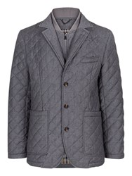 Aquascutum London Forest Quilted Blazer Jacket Grey