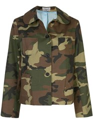 Ashley Williams Camouflage Print Button Down Jacket 60