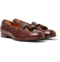 Gucci Loomis Leather Tasselled Loafers Brown