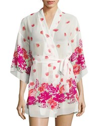 Flora Nikrooz Sheer Floral Robe Natural