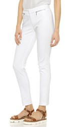 Rebecca Taylor Stretch Cotton Slim Pants Snow