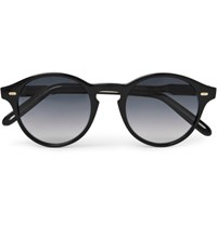 Cutler And Gross Round Frame Acetate Sunglasses Black