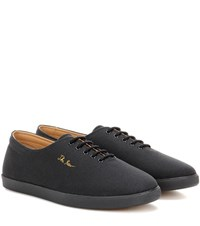 The Row Dean Canvas Sneakers Black