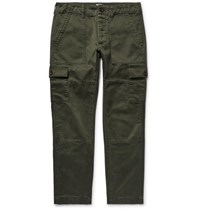 Todd Snyder Brushed Cotton Cargo Trousers Army Green
