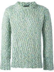 Ann Demeulemeester Thick Knit Sweater Green