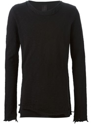 Thom Krom Distressed Sweater Black