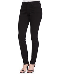 T By Alexander Wang High Rise Slim Fit Jeans Black