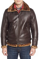Men's Marc New York By Andrew Marc Faux Leather Aviator Jacket With Faux Fur Trims