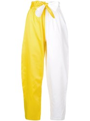 Mara Hoffman Colour Block Cropped Trousers White